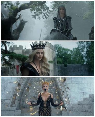 """艾米莉-布朗特扮演的""""冰雪皇后""""是反派,和查理兹-塞隆扮演的邪恶皇后站在同一战线"""