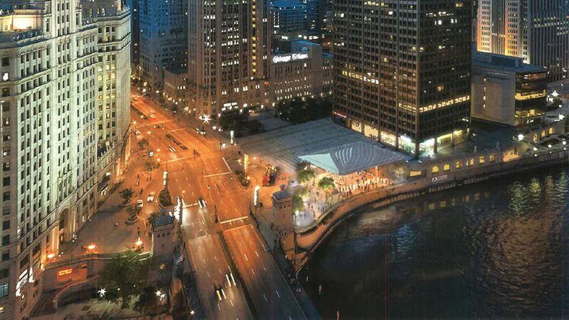日前,美国芝加哥的一份当地报纸报道了苹果在芝加哥的新店计划,该店坐落于北密歇根大道的购物区,占地 20000 平方英尺,位于芝加哥河的北面。新店的设计非常特别,就像一所被玻璃包裹着的,依河而建的寺庙一样。