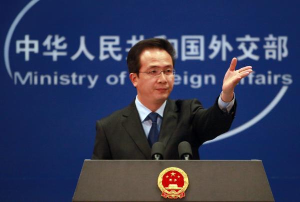 """外交部发言人洪磊表示,中方""""愿同俄罗斯及国际社会一道,加强安全领域合作。视觉中国 图"""