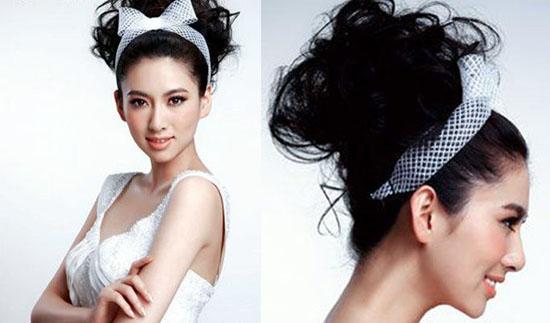 上海化妆学校荟艺解析韩式新娘盘发步骤图片