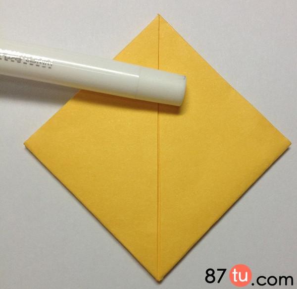 小黄人儿童折纸图解教程