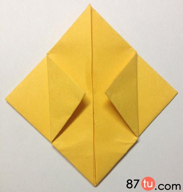 小黄人儿童折纸图解教程图片