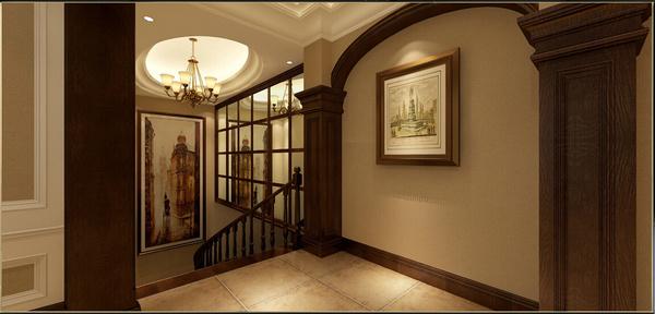 一f 楼梯过道 餐厅与西厨相连,宽敞的垭口使空间更加开阔,还起到隔断图片