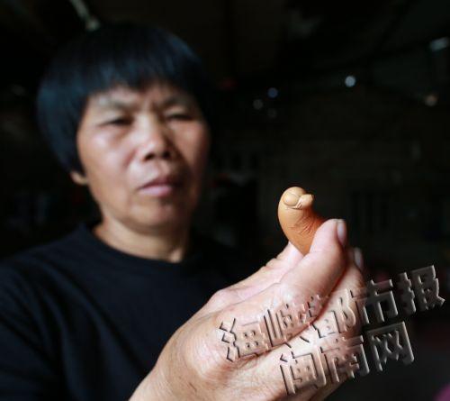 福建一母鸡产下奇特蛋 外形弯曲似侧卧小狗(图)