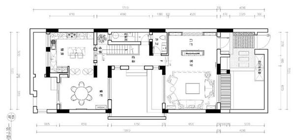 别墅装修原始结构图 一楼平面图 二楼平面图 三楼平面图 负一楼平面