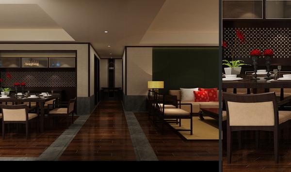 贵阳经典天成170平米中式装饰案例cad排气扇平面图图片