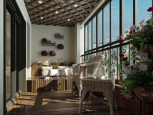 阳台装修效果图及风水