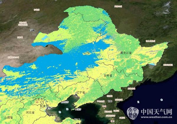 卫星云图上的积雪 你一定没见过图片