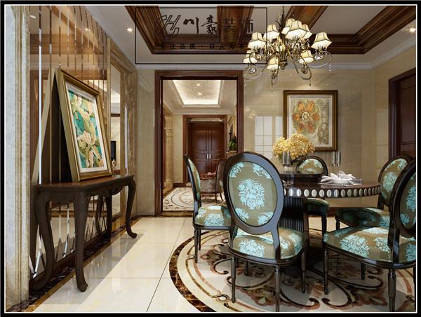 合肥200平方大平层欧式古典装修设计效果图图片