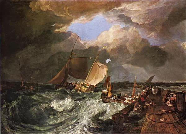 calais pier, with french poissards preparing for