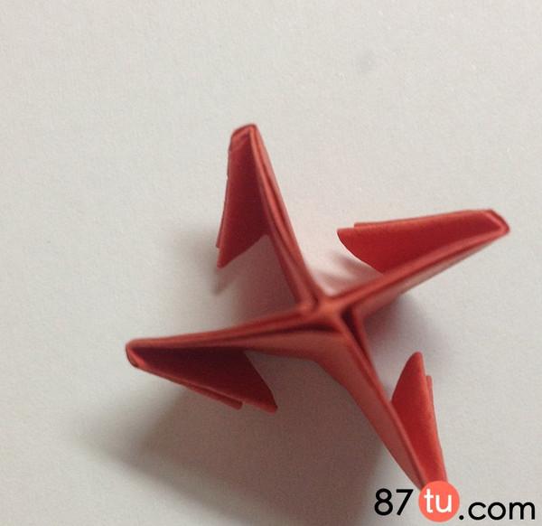 儿童折纸小红花折纸图解教程图片