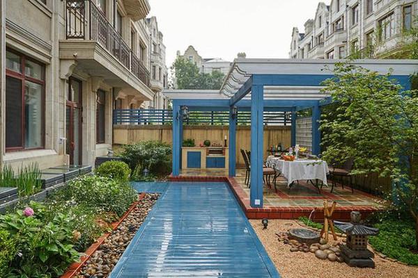 聯排別墅裝修效果圖 花園