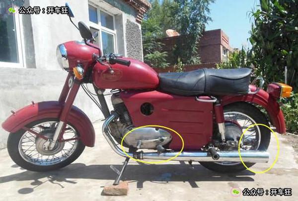 色摩托车   轻骑木兰   铃木TR125图片