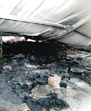 易彩钢房内起火被烧