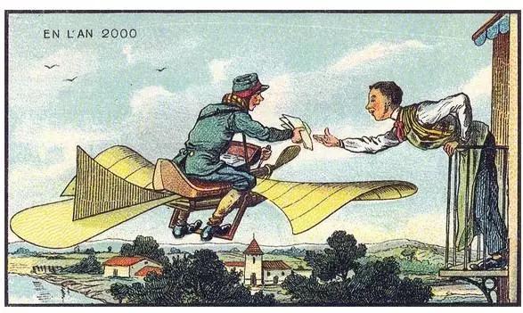 100年前,法国人幻想的100年后的 未来世界