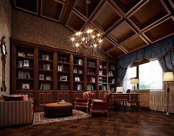 欧式古典风格豪华别墅效果图(2)    点评:富