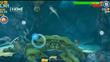 游戏实录视频 饥饿鲨 进化 的大螃蟹打法