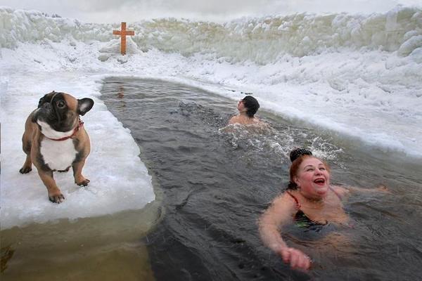 玩逼�_你知道俄罗斯冬天战斗民族牛逼,但是你知道他们在冰窟窿里冬泳吗?