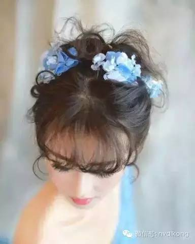 当空气灵感扎发遇到鲜花造型,一定是浪漫的新娘图片