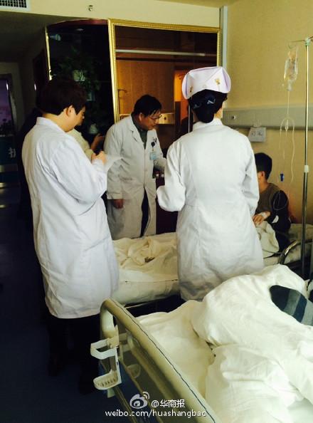 陕西咸阳一中学132名学生疑似食物中毒住院