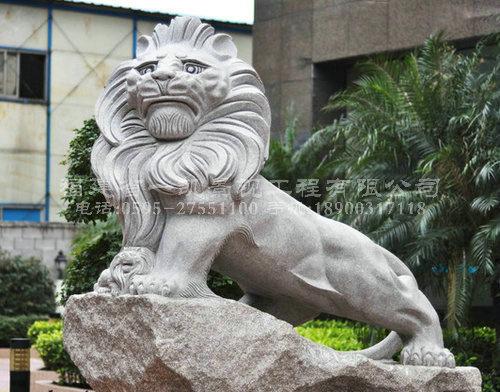 园林广场景观雕塑欧式石狮子摆件图片
