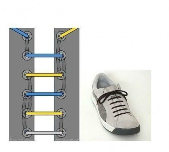 系鞋带大全,图解17中绑鞋带的方法