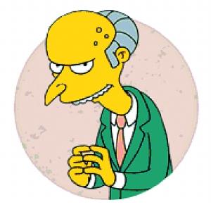 """通常也被叫做伯恩斯先生或""""蒙蒂""""·伯恩斯,是美国动画《辛普森一家》中的一位反面固定角色。他是春田镇核电站的所有者,荷马 辛普森的老板,通常也是荷马最强硬的对手。"""