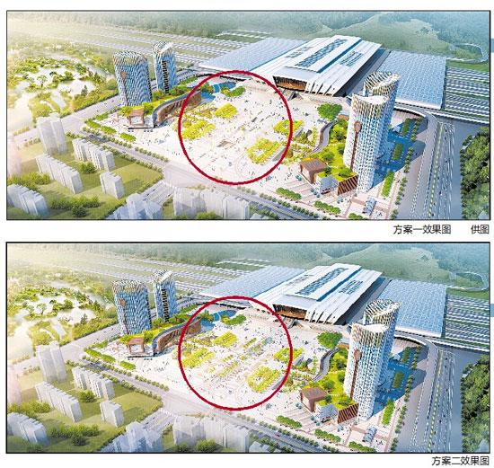 昆明信息港综合整理 昆明火车新南站主站房屋顶钢结构已有部分完成