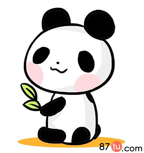 小熊猫简笔画图解教程