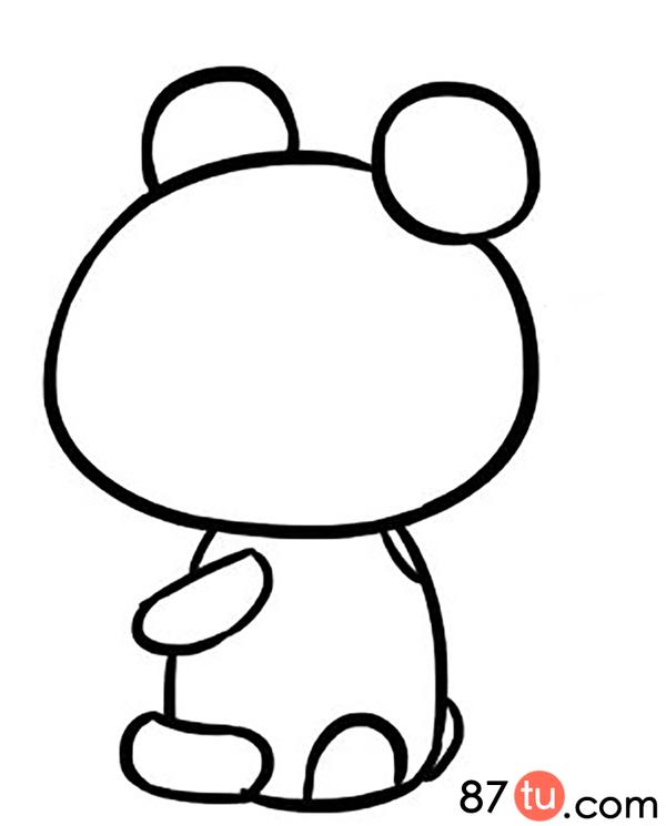 小熊猫简笔画图解教程图片