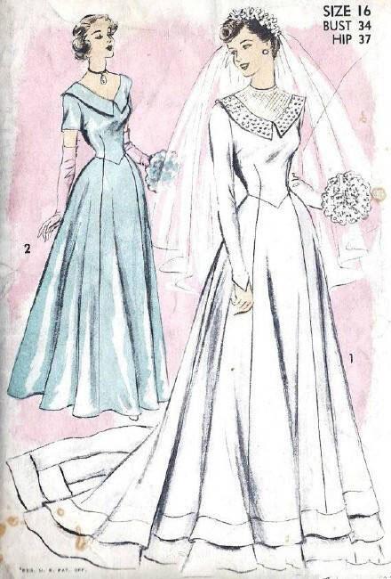 婚纱手绘,复古婚纱美丽新娘