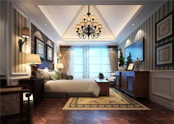 武汉别墅设计▏温馨美式风格图片