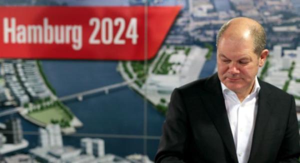 """汉堡第一市长欧拉夫・舒尔茨表示,""""市民的决定虽然让我们意外。"""""""