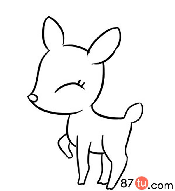 小鹿简笔画图解教程