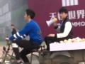 《浙江卫视挑战者联盟第一季片花》未播花絮 李晨街边送水果 张杰三轮车上开个唱