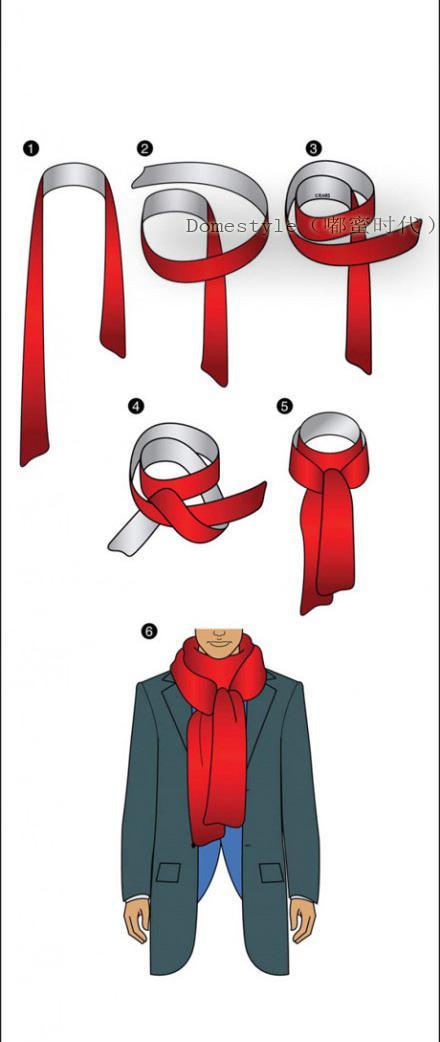 长围巾的围法男生,长款围巾的各种围法,长款围巾的系法图解