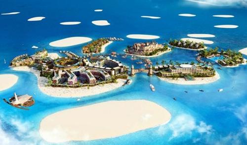 迪拜水上漂浮别墅是什么样?