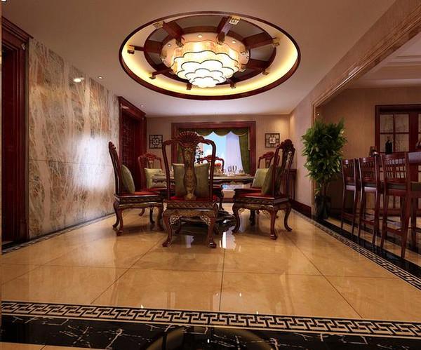 成都新中式别墅豪华装修效果图图片