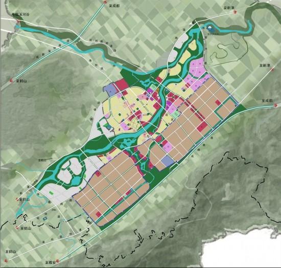 鹤山城市规划地图