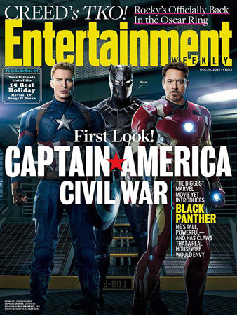 《美队3》登《娱乐周刊》封面
