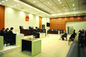 庭审现场 图像来自南京中院民间微博