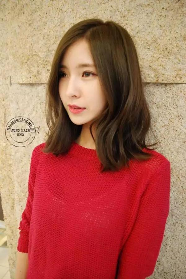 韩式中长发发型款式图片