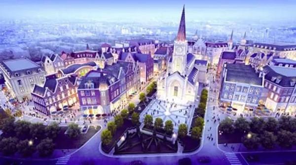 武汉绿地城欧洲风情小镇位于汉南区,总投资400多亿元,项目打造过程中图片