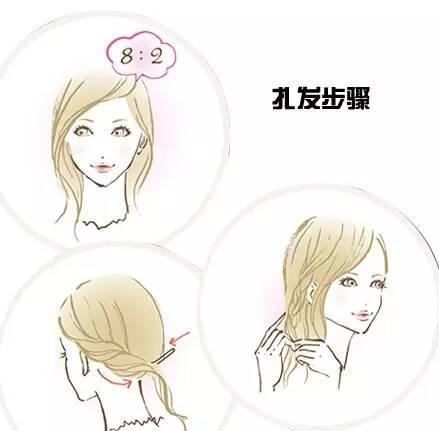 发型马尾教程头字型辫侧编发等图片丸子-搜鱼骨短发适合发型脸由图片