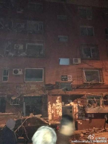 北京八宝山某小区发生爆炸 窗户被震碎