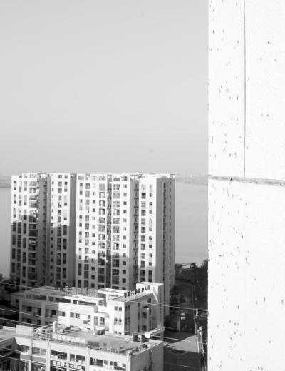 高层建筑的窗外也爬满了按蚊。记者柯美学摄