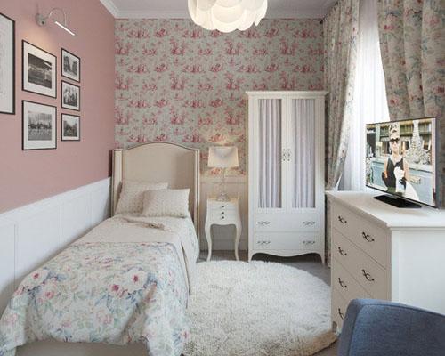 用淡色营造通透和扩容,用简约来节省空间,即使蜗居的小卧室也能拥有小图片