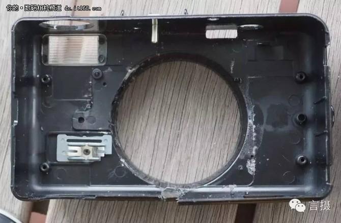 拆下后露出了镜片