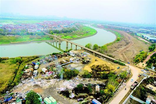 河道景观效果图 山