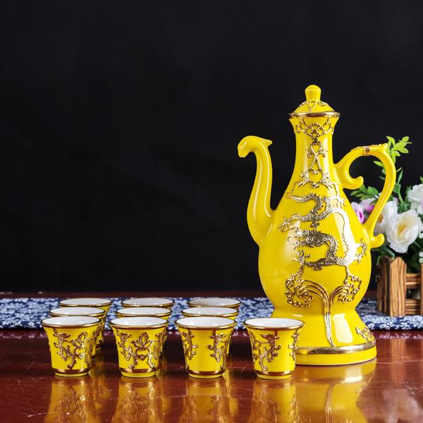 这么新奇漂亮的陶瓷酒具您见过吗